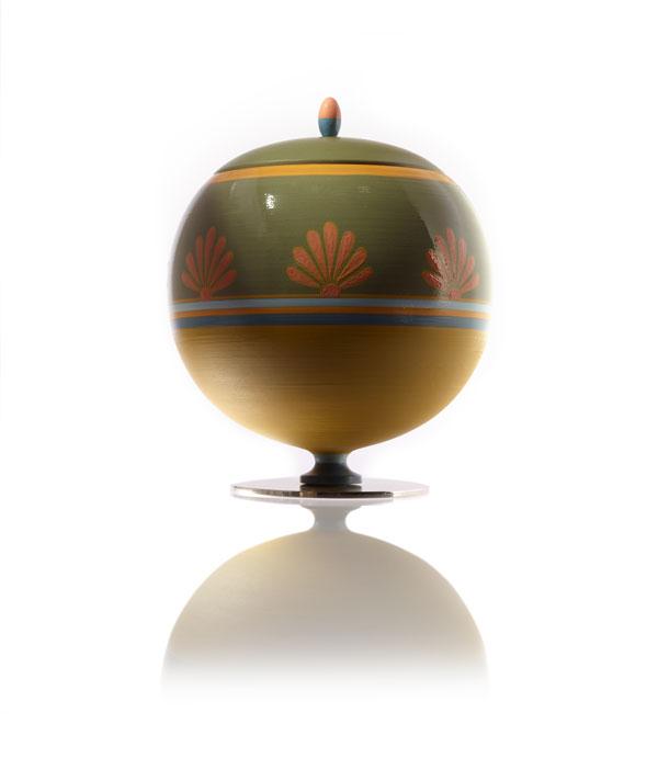 """Vaso in maiolica decorato a mano """"GENNA"""""""