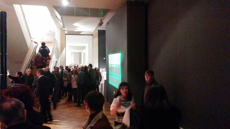 National Gallery of Modern Art Rome evolution 15.3 interactive ceramic panel by boccini nicola