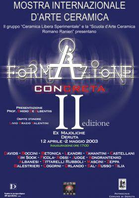 """Nicola Boccini, Ceramic art exhibition """"Formazione Concreta"""""""
