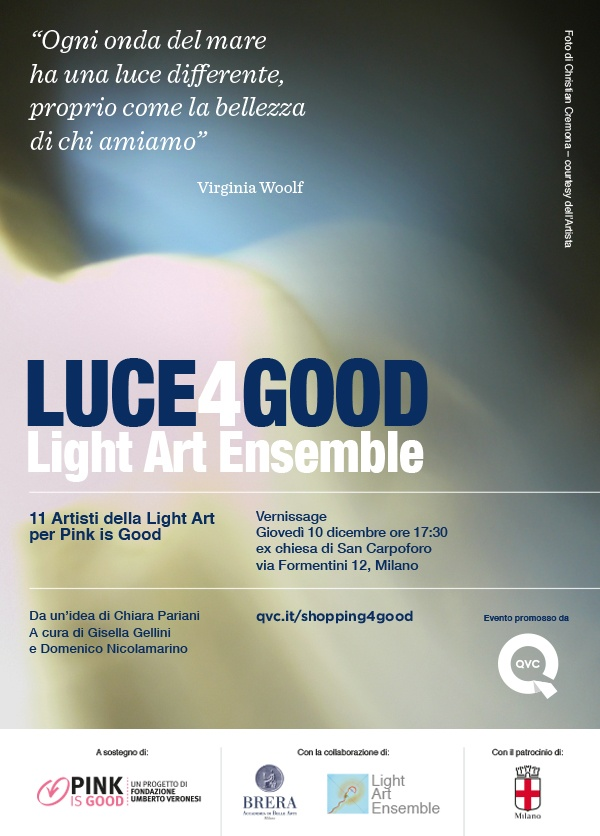 Invite luce4good and light art milan