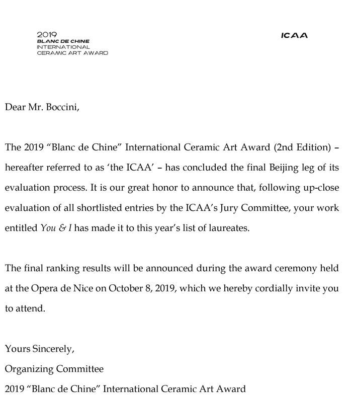 ICCA International Ceramic Art Award, Pechino, Cina
