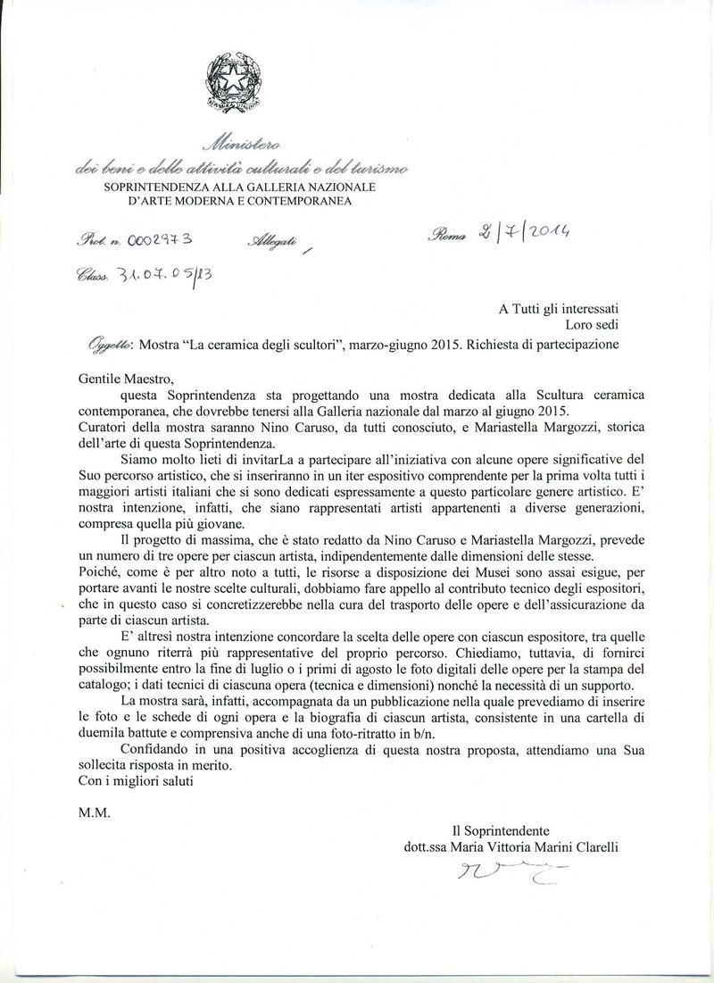 nicola boccini invites to ceramic exhibition