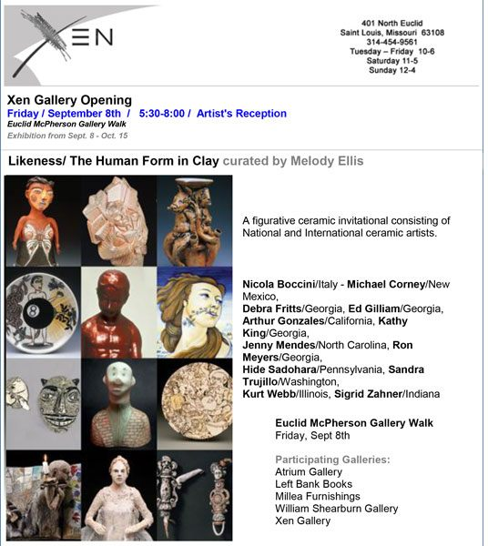 Nicola Boccini, ceramic art exhibition at Xen Gallery USA