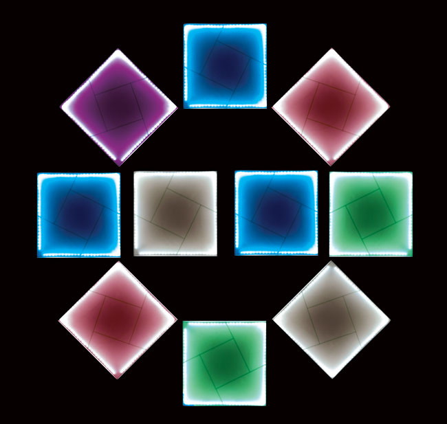 You and I - Third Price -  Porcelaine panel, multimedia and interactive light art