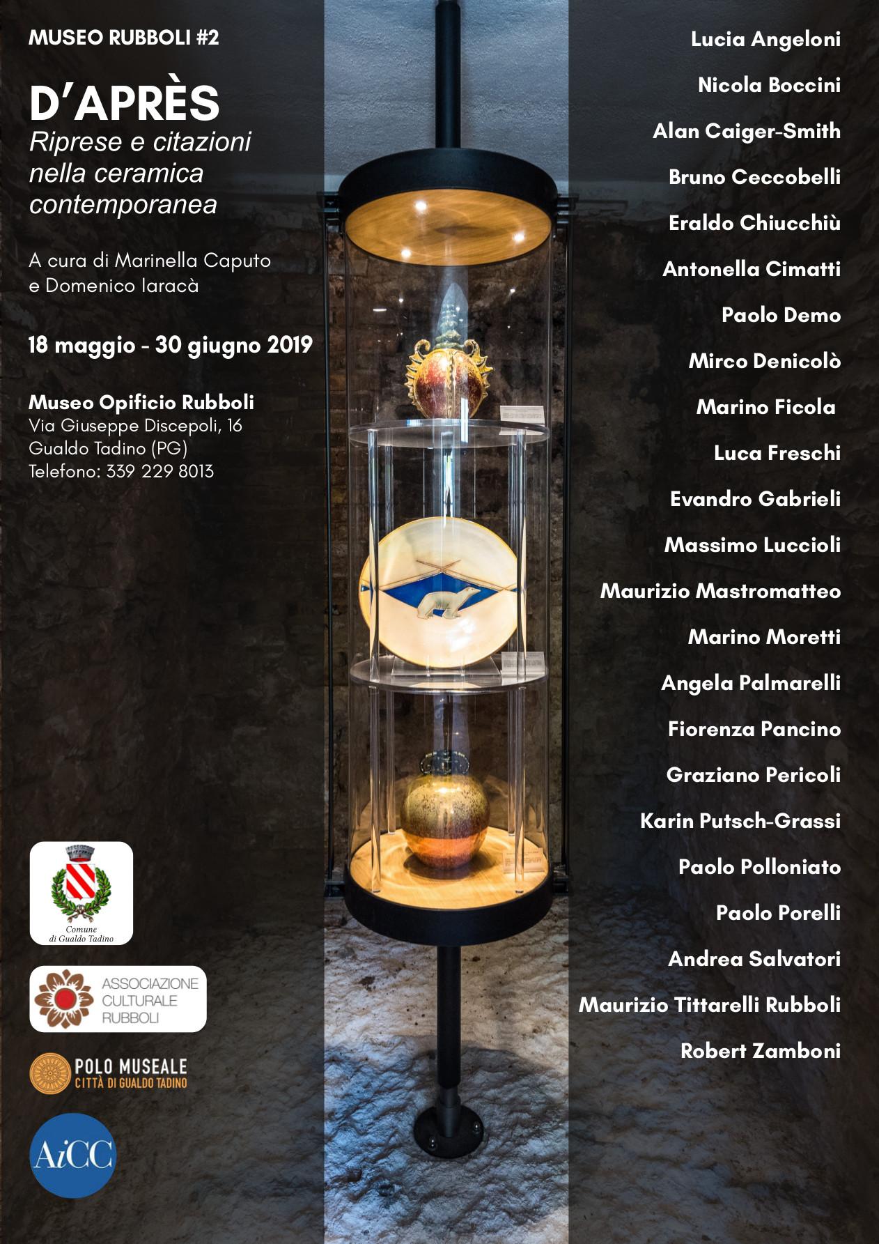 Dapres contemporary ceramic exhibition at Museo Rubboli Gualdo Tadino