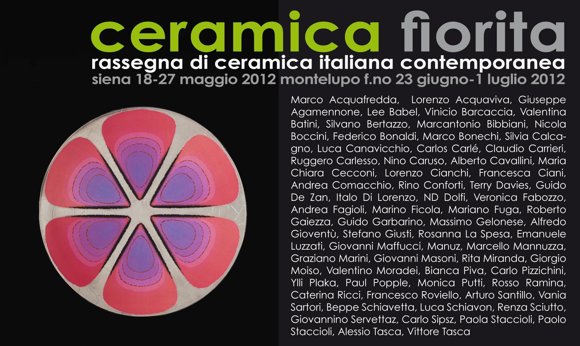 Nicola Boccini ceramic art exhibition siena ceramica fiorita Italy