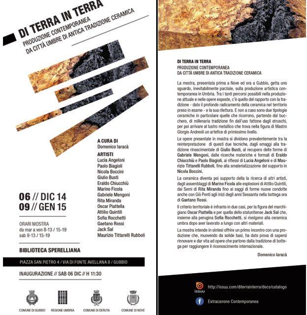 Nicola Boccini, art exhibition Gubbio Perugia