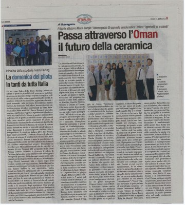 Articolo Italia in Oman