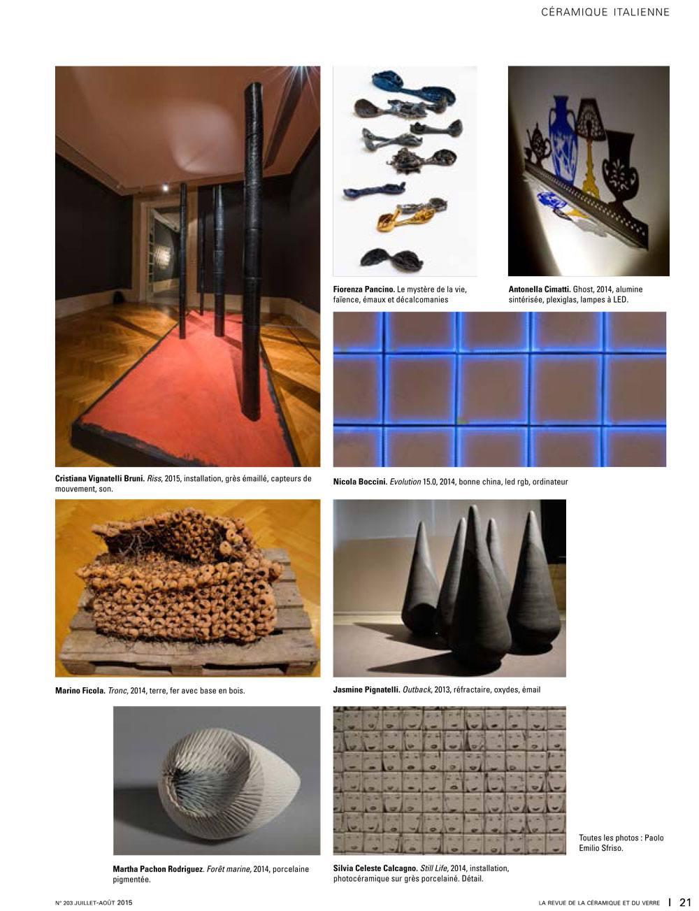 Nicola Boccini, la revue de la ceramique e du verre