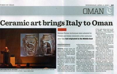 times of oman nicola boccini artista internazionale