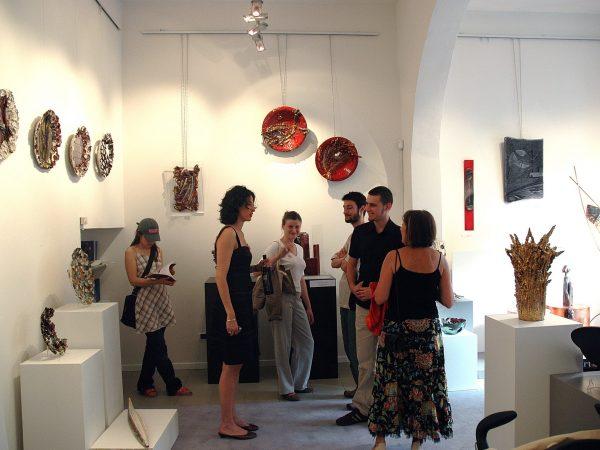 """Montelupo Fiorentino Exhibiton art """"Formazione Concreta""""  Techne gallery 2006"""